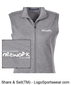 Devon & Jones Ladies' Newbury Mélange Fleece Vest Design Zoom