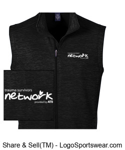 Devon & Jones Men's Newbury Mélange Fleece Vest Design Zoom
