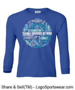 Gildan Youth Ultra Cotton Long Sleeve T-Shirt Design Zoom